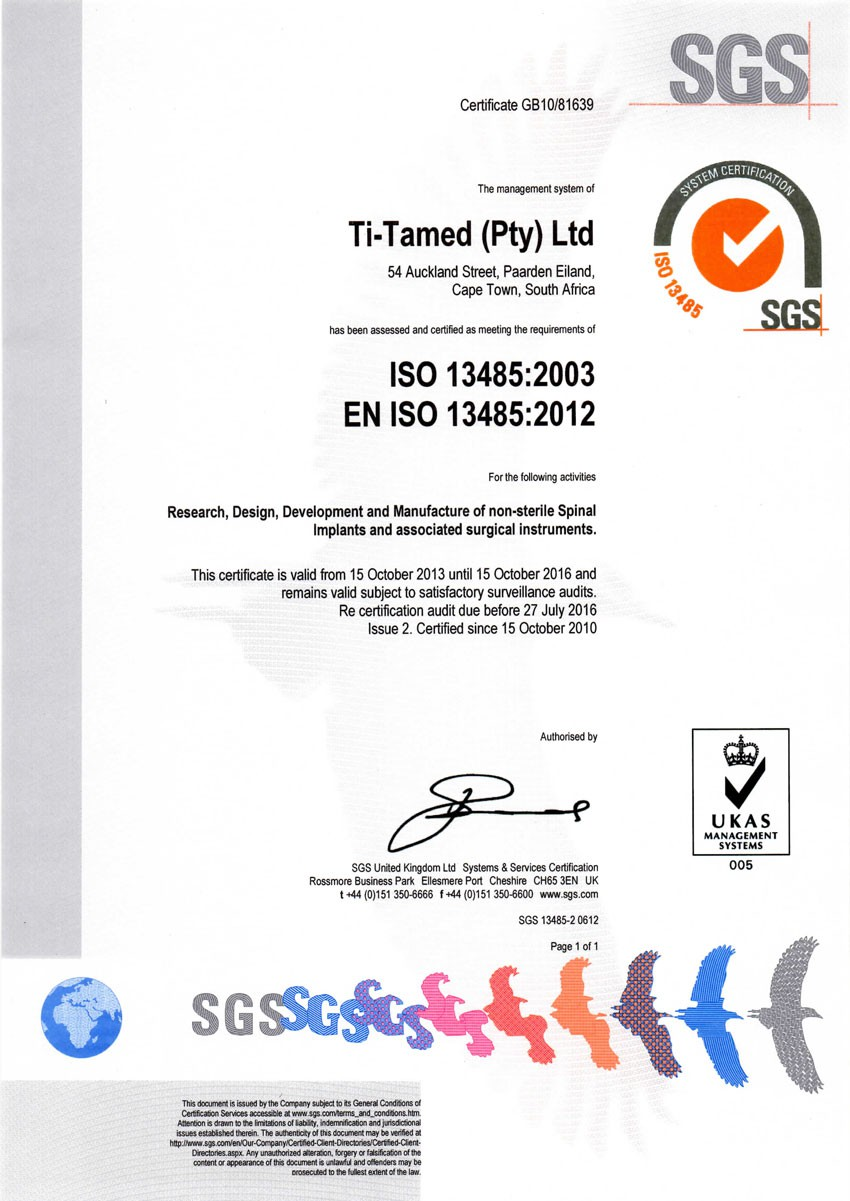 Certification Titamed